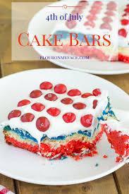 Flag Cakes Red White And Blue Cake Bars Skittlesamericamix Flour On My Face