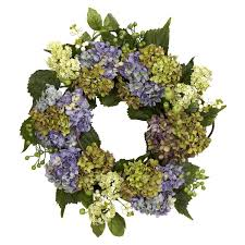 hydrangea wreath nearly 4781 hydrangea wreath 22 inch purple