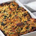 menu with recipes for southwestern thanksgiving for 12