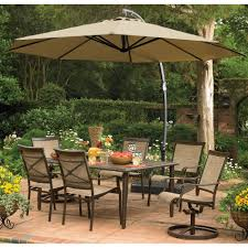 11 Ft Offset Patio Umbrella 11 Ft Offset Patio Umbrella Black Powder Coated Aluminum Pole Gray