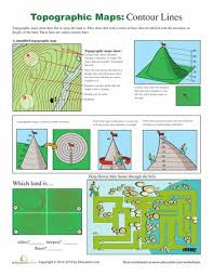 how to read a topographic map topographic map worksheets and maps