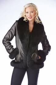black leather jacket with fox trim sakowitz furs