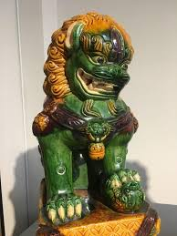 foo lions for sale pair of sancai glazed foo lions at 1stdibs