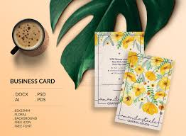 floral business card template creative by showy68template on