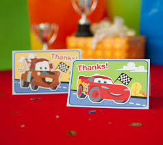 cars junior junction printable thank you notes disney baby