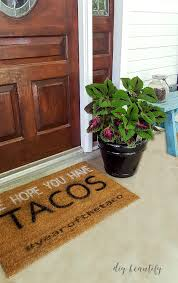 Exterior Door Mat Diy Front Door Mat Ideas And Tutorial Diy Beautify