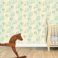 elephant and balloon child u0027s wallpaper by snuugle