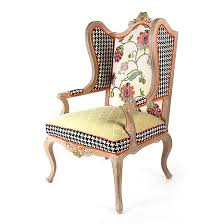 mackenzie childs chelsea garden wing chair