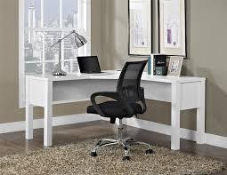 L Shaped Desks For Home Office Ameriwood Furniture Princeton L Shaped Desk White