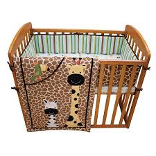 Mini Crib Sets Lambs Peek A Boo Jungle Mini Crib Set