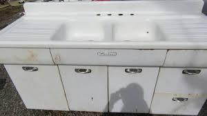 metal kitchen sink cabinet for sale vintage morton kitchen sink cabinet and drainboard