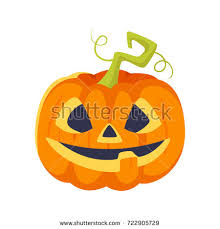 stock vector illustration horrible cartoon jackolantern stock