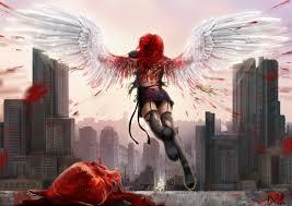arts wings darianaloki heart blood city angel girls wallpaper at