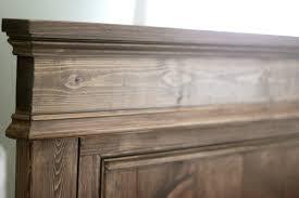 weathered oak vanity jenny steffens hobick we built a bed diy wooden headboard