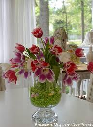 easter arrangements centerpieces easter tulip centerpiece in pottery barn knock bowl vase