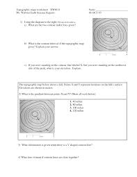 9 best images of contour lines topographic map worksheets