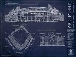 ballpark blueprints wrigley field bleed cubbie blue
