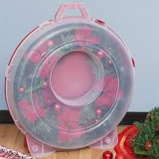 wreath storage container in holiday wreath storage