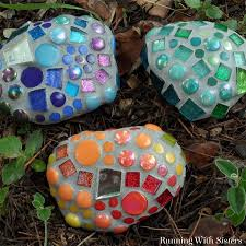 Colored Rocks For Garden by How To Make Mosaic Garden Rocks Running With Sisters