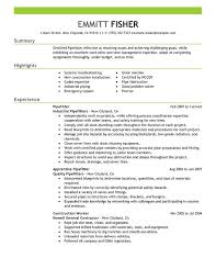 Examples Of Summary On A Resume by Unforgettable Pipefitter Resume Examples To Stand Out