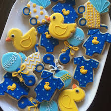 rubber duck baby shower rubber ducky large baby shower cookies hayley cakes and cookies