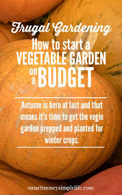 frugal gardening how to start a vegetable garden on a budget