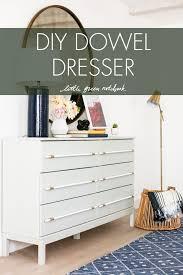 diy dresser one room challenge week 6 diy dowel dresser little green notebook