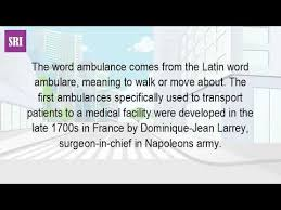 where did the term ambulance come from