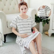 maternity nursing 2017 summer women nightdress maternity nursing striped white dress