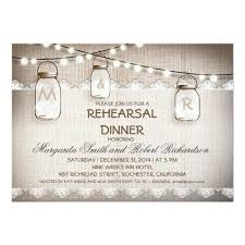 rehearsal dinner invitations burlap and jars rehearsal dinner invitations zazzle