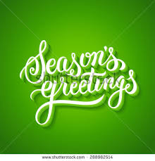 seasons greetings lettering handmade vector stock vector
