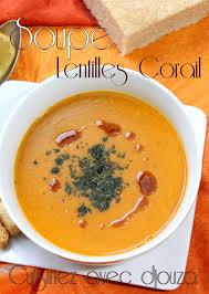 lentille cuisine soupe de lentilles corail velouté turc recettes faciles