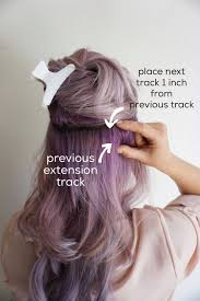 purple hair extensions tips for applying clip in hair extensions hairstyles