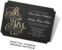 foil sted wedding invitations foil wedding invitations marialonghi