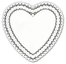 heart shaped doilies doily heart clipart 2082935