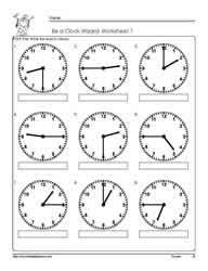 telling time to quarter hour worksheetsworksheets