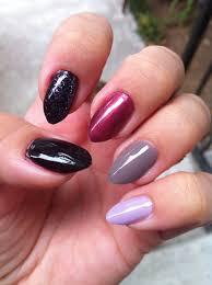 shades of purples grey nails