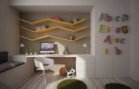 Bookshelf Design With Study Table Furniture Cool Bookshelves For Kids Be Equipped With Creamy