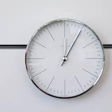 Minimalistic Wall Clock by Modern Interior Design Max Bill Modern Minimalist Steel Wall