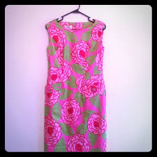 mod floral dress pink abs and floral