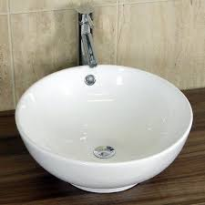 round sink bowl basin sink countertop bathroom ceramic white bowl round 420mm x
