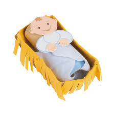 baby jesus in a manger craft kit orientaltrading com