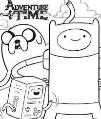 14 coloring pictures adventure time print color craft