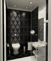 Tiling Ideas For Bathrooms 27 Black Damask Bathroom Tiles Ideas And Pictures