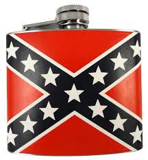 Rebel Flag Image Confederate Rebel Flag 5oz Flask