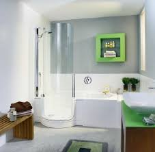 Bathroom With Shower Only Small Bathrooms With Tub White Polished Wooden Wall Mount Medicine