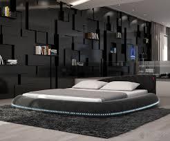 bett designer bett mit beleuchtung architektur polsterbett arjen 140x200 schwarz