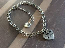 silver chain link charm bracelet images Amazing woman charm bracelet silver plated chain link double sided JPG