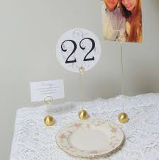 wedding table number holders 6 gold table number holders ideal for weddings and