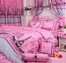 Twin Size Beds For Girls by Amazon Com Cliab Pink Paris Bedding Twin Size Girls Bedding Set